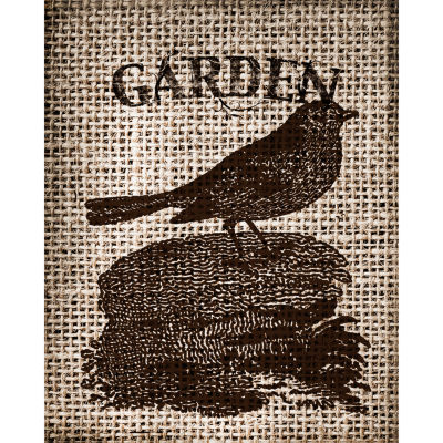 Garden Burlap I Canvas Art
