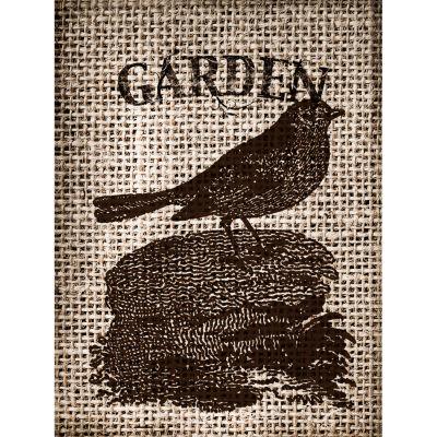 Garden Burlap I Canvas Art