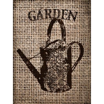 Garden Burlap IV Canvas Art