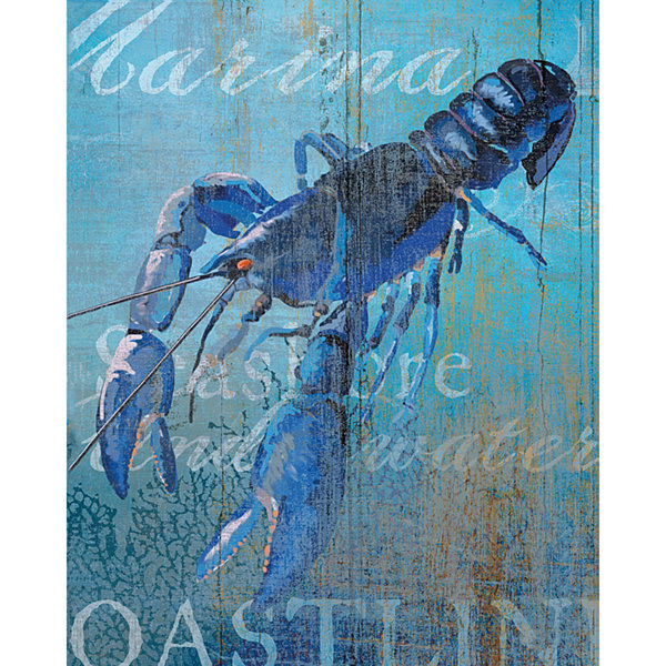 Lobster And Sea Crop Canvas Art