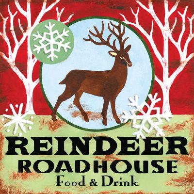 Reindeer Roadhouse Canvas Art