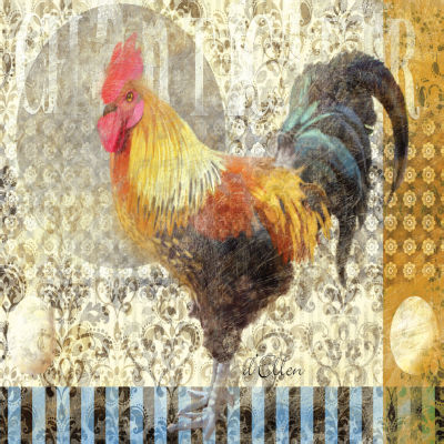 Rooster II Canvas Art