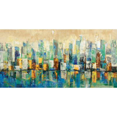 Urban Mix Blue I Canvas Art