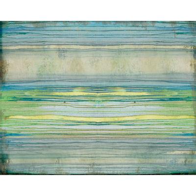 Weathered Blues Canvas Art