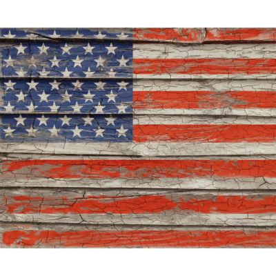 Weathered Old Glory Canvas Art