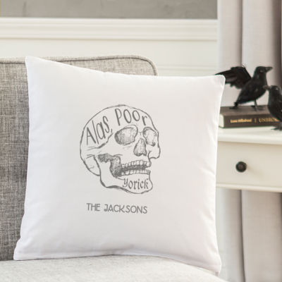 """Cathy's Concepts Personalized """"Alas Poor YorickThrow Pillow"""