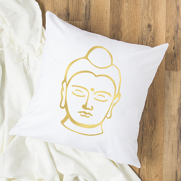 Cathy's Concepts Gold Foil Buddha Throw Pillow