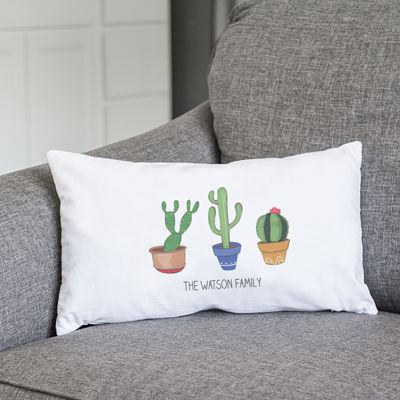 Cathy's Concepts Personalized Cactus Lumbar Pillow