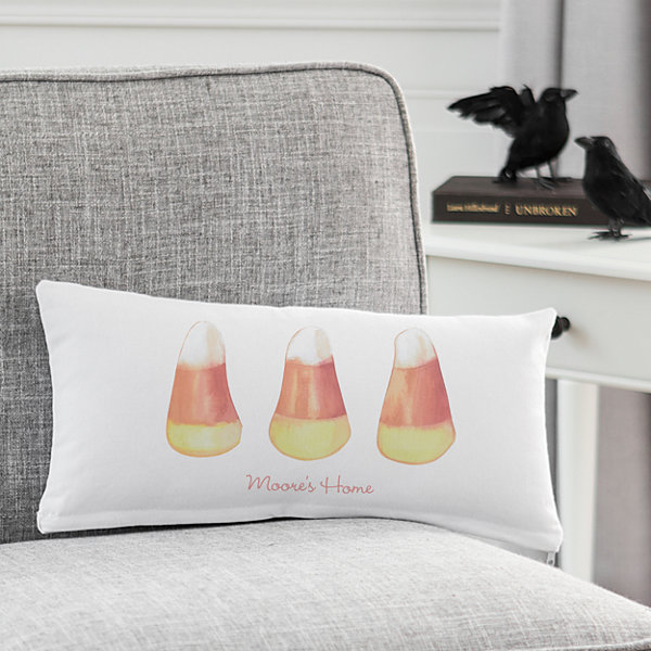 Cathy's Concepts Personalized Candy Corn Lumbar Pillow
