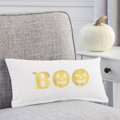 Cathy's Concepts Gold Boo Lumbar Pillow