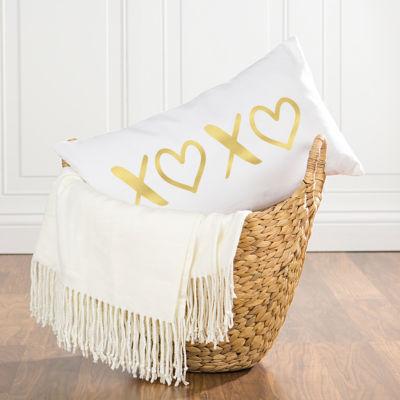 Cathy's Concepts Gold Foil XOXO Lumbar Pillow