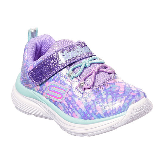 Skechers Wavy Lights Girls Sneakers Pull-on - Toddler