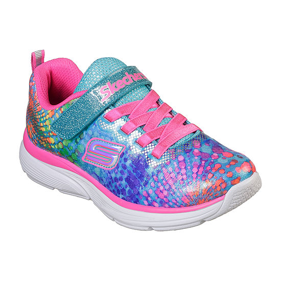 Skechers Wavy Lights Pull-on Sneakers - Little Kids Girls