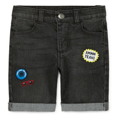 Okie Dokie Mid Rise Denim Short - Toddler Boys