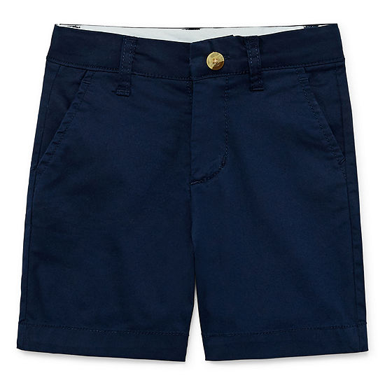 Okie Dokie Boys Mid Rise Adjustable Waist Chino Short Toddler