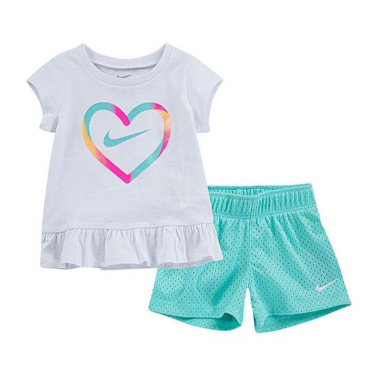 21def3d88 Nike 2-pc. Short Set Toddler Girls - JCPenney
