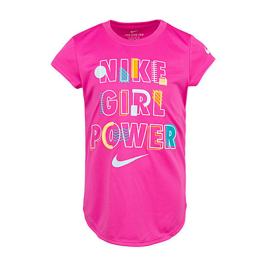 Nike Girls Round Neck Short Sleeve Graphic T Shirt Preschool