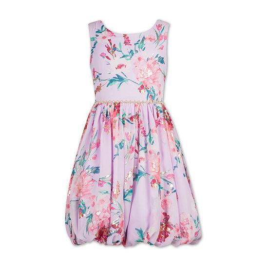 Speechless Girls Embellished Sleeveless Floral A-Line Dress - Preschool / Big Kid