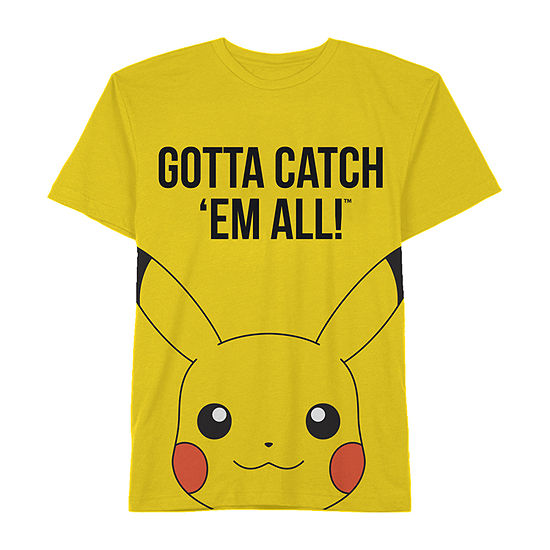Boys Crew Neck Short Sleeve Pokemon Graphic T-Shirt - Preschool / Big Kid