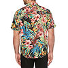 Cubavera Mens Short Sleeve Button-Front Shirt