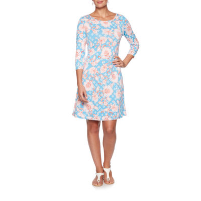 Lark Lane Must Haves Iii 3/4 Sleeve Floral Sheath Dress