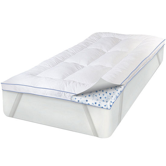 SensorPEDIC® MemoryLOFT® Deluxe Mattress Topper with Gel plus BONUS Pillow