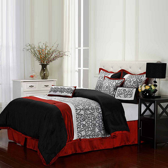 Aubrey 7-pc. Reversible Comforter Set
