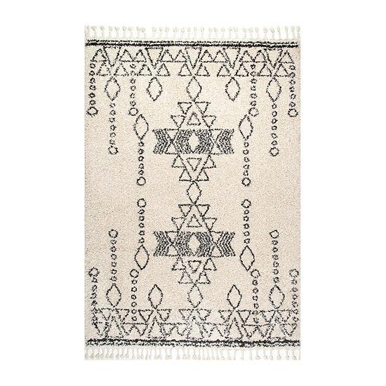 nuLoom Veola Moroccan Tribal Tassel Area Rug