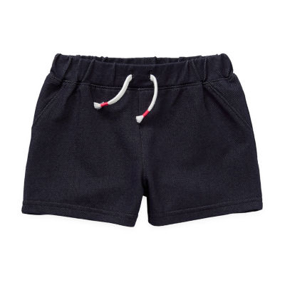 Okie Dokie Knit Denim Baby Girls Pull-On Short