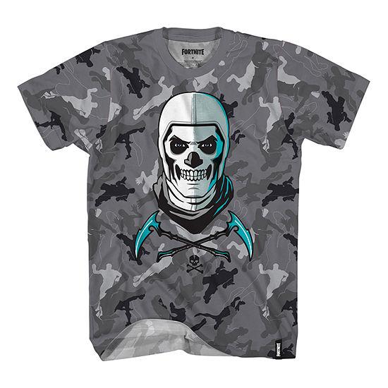 Big Boys Crew Neck Fortnite Short Sleeve Graphic T-Shirt