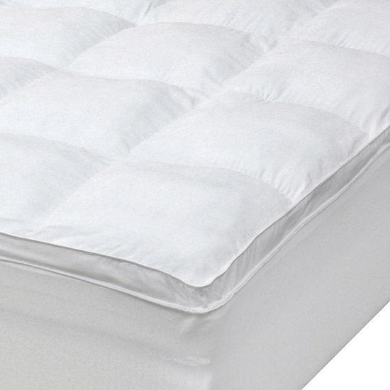 iDEAL Comfort™ Microfiber Baffle Box Fiberbed  Mattress Pad w/ Skirt