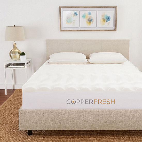 "CopperFresh 2"" Wave Foam Mattress Topper"