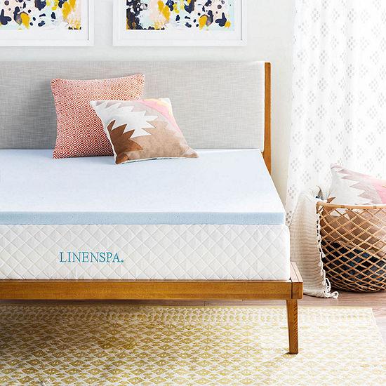 Linenspa 2 Inch Gel Memory Foam Mattress Topper
