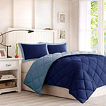 Madison Park Essentials Larkspur Microfiber Reversible Down Alternative Comforter Set