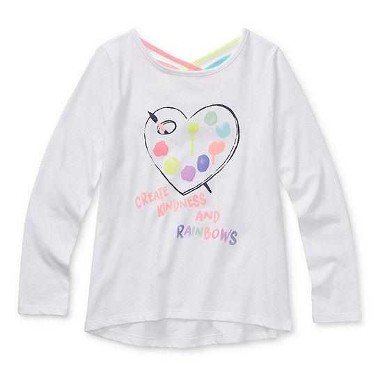 Arizona - Little Kid / Big Kid Girls Round Neck Long Sleeve Graphic T-Shirt