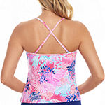 St. John's Bay Tropical Tankini Swimsuit Top
