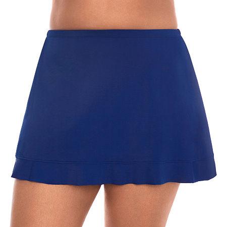 1920s Skirts, Gatsby Skirts, Vintage Pleated Skirts St. Johns Bay Swim Skirt Swimsuit Bottom Plus 20w  Blue $40.50 AT vintagedancer.com