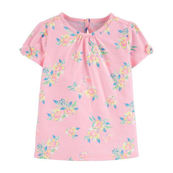 Oshkosh-Toddler Girls Short Sleeve T-Shirt