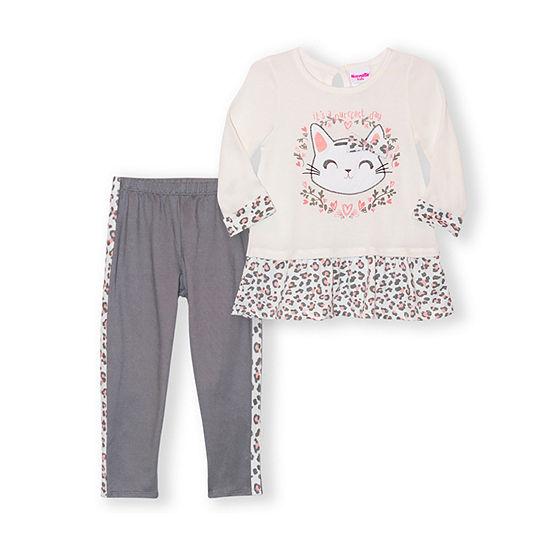 Nannette Baby Toddler Girls 2-pc. Pant Set
