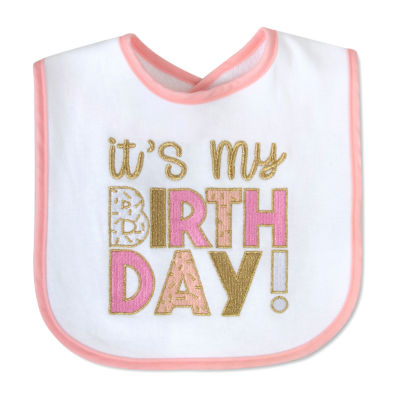 Okie Dokie First Birthday Girls Bib