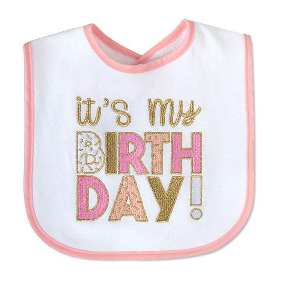 Okie Dokie First Birthday Girls Bib