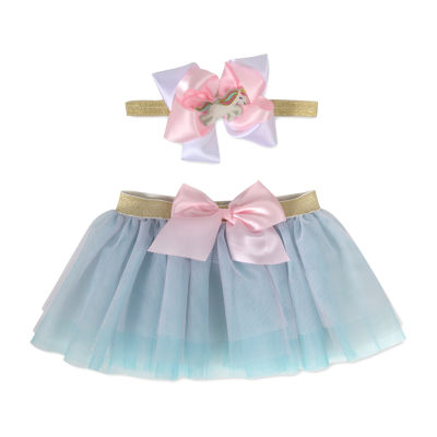 Okie Dokie  Headband And Tutu 0-6m Baby Girls 2-pc. Gift Set
