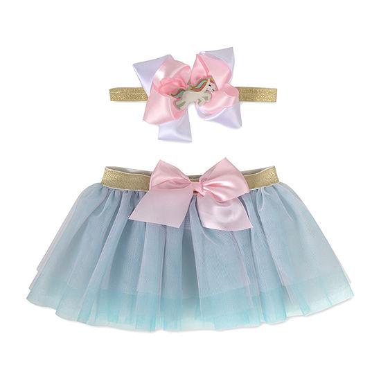 Okie Dokie  Headband And Tutu 0-6m Baby Girls 2-pc. Baby Gift Set