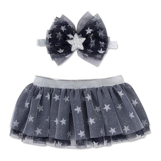 Okie Dokie Headband And Tutu  0-6m-Baby Girls 2-pc. Baby Gift Set