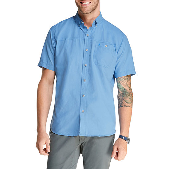 G.H. Bass & Co. Fishing Mens Short Sleeve Button-Down Shirt
