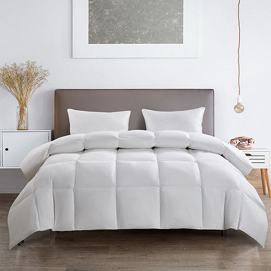 Serta 233 Thread Count All Seasons Warmth White Goose Feather And Down Fiber Comforter