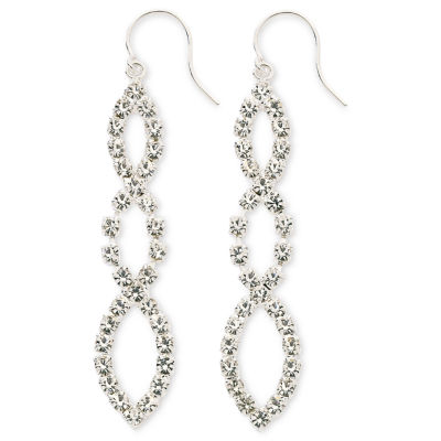 Vieste® Crystal Linear Drop Earrings
