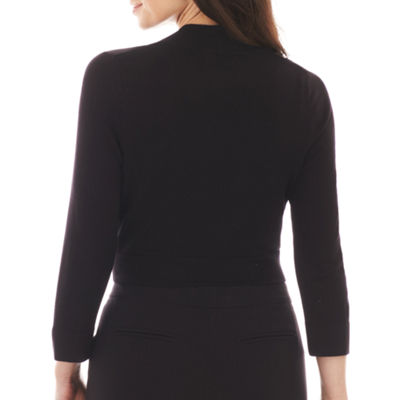 Jessica Howard 3/4 Sleeve Bolero Sweater