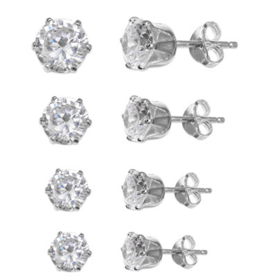 Silver Treasures 4-pc. Earring Sets