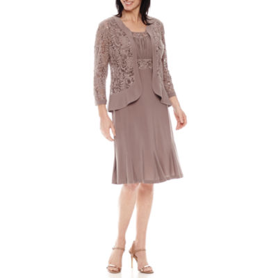 R & M Richards 3/4 Sleeve Jacket Dress